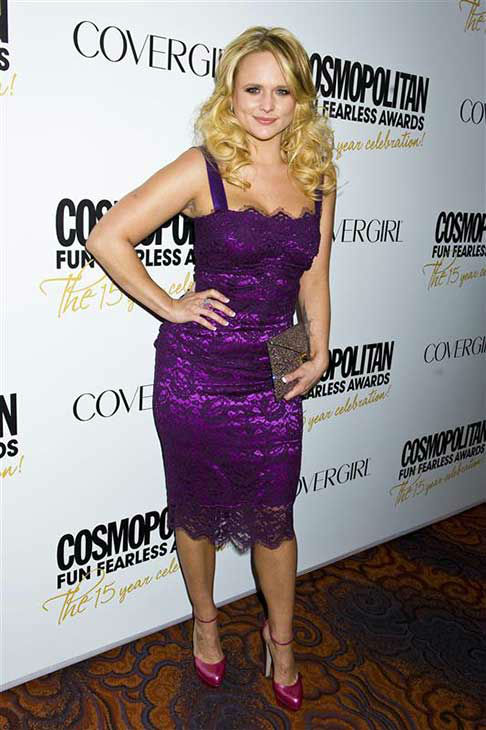 Miranda Lambert appears at Cosmopolitan Magazine&#39;s Fun Fearless Awards in New York City on March 5, 2012. <span class=meta>(Justin Campbell &#47; startraksphoto.com)</span>
