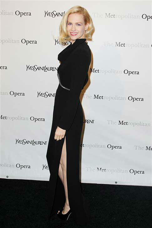 "<div class=""meta ""><span class=""caption-text "">January Jones appears at the Metropolitan Opera's Gala premiere of Jules Massenet's Manon in New York City on March 26, 2012.  (Amanda Schwab / startraksphoto.com)</span></div>"