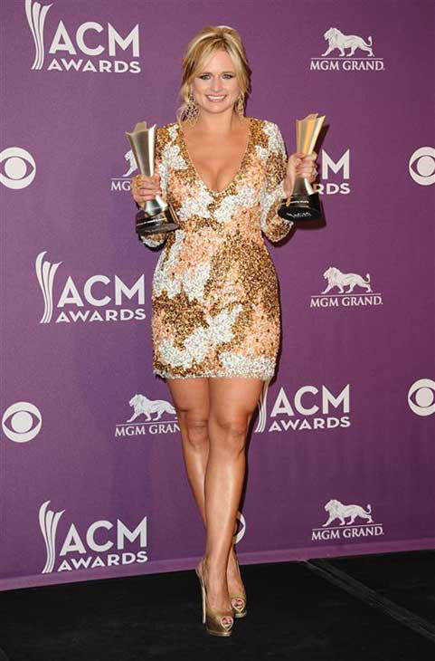 Miranda Lambert appears backstage at the 47th annual Academy of Country Music &#40;ACM&#41; Awards in Las Vegas on April 1, 2012.  <span class=meta>(Kyle Rover &#47; startraksphoto.com)</span>