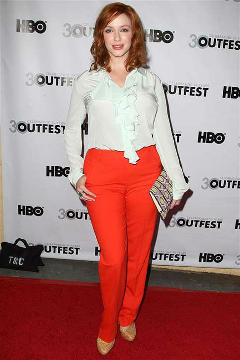 "<div class=""meta image-caption""><div class=""origin-logo origin-image ""><span></span></div><span class=""caption-text"">Christina Hendricks appears at the 2012 Outfest Struck by Lightning premiere in Los Angeles on July 22, 2012.  (Norman Scott / startraksphoto.com)</span></div>"