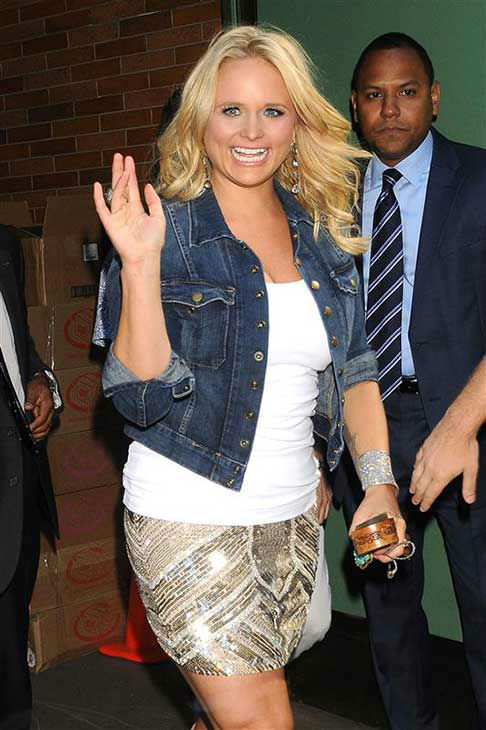 Miranda Lambert appears on Good Morning America in New York City on July 25, 2012.  <span class=meta>(Ken Katz &#47; startraksphoto.com)</span>