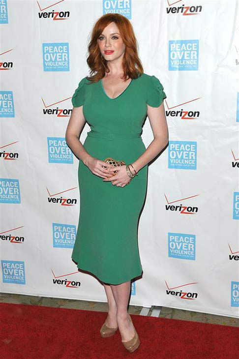 Christina Hendricks appears at the 41st annual Peace Over Violence Humanitarian Awards in Los Angeles on Oct. 26, 2012. <span class=meta>(Tony DiMaio &#47; startraksphoto.com)</span>