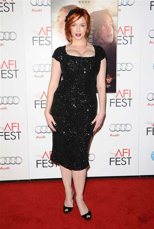 Christina Hendricks appears at the &#39;Ginger and Rosa&#39; screening in Los Angeles on Nov. 7, 2012.  <span class=meta>(Sara De Boer &#47; startraksphoto.com)</span>