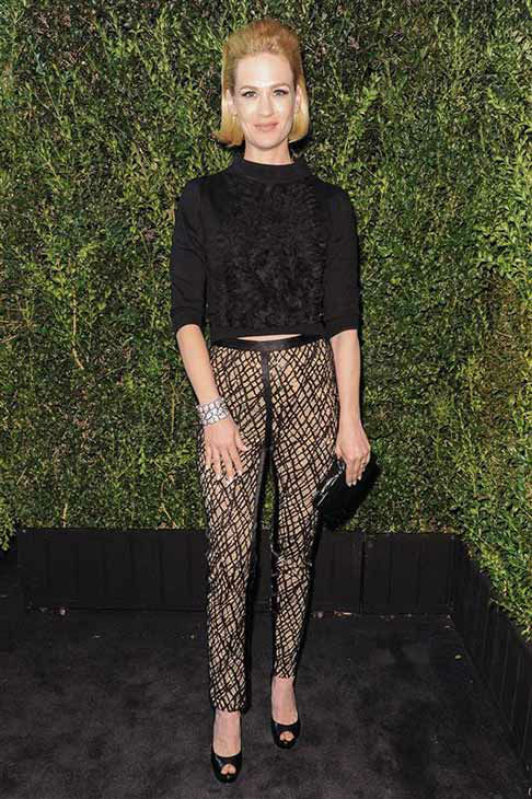 January Jones appears at the Charles Finch and Chanel party in Los Angeles on Feb. 23, 2013.  <span class=meta>(Richard Young &#47; startraksphoto.com)</span>