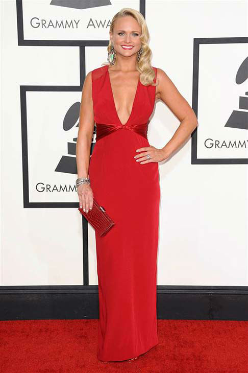 Miranda Lambert appears at the 56th annual Grammy Awards in Los Angeles on Jan. 26, 2014. <span class=meta>(Kyle Rover &#47; startraksphoto.com)</span>