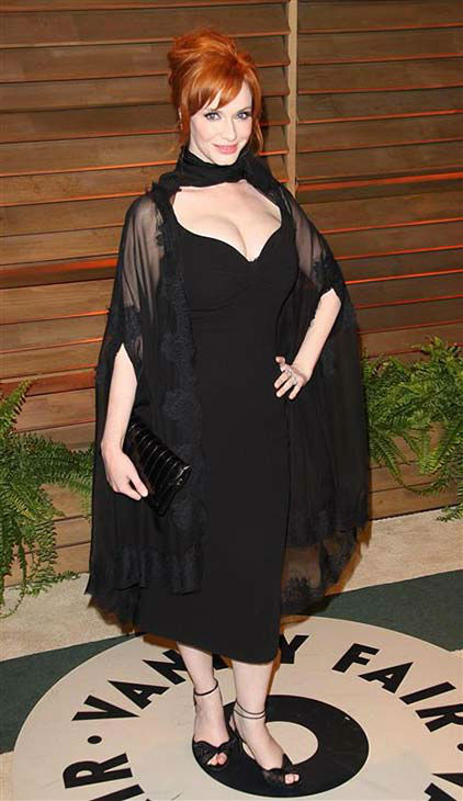 Christina Hendricks appears at the 2014 Vanity Fair Oscar party in Los Angeles on March 2, 2014.  <span class=meta>(Lionel Hahn &#47; startraksphoto.com)</span>