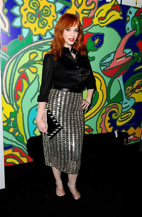 Christina Hendricks appears at the season 7 premiere of &#39;Mad Men&#39; in Los Angeles on April 2, 2014.  <span class=meta>(Daniel Robertson &#47; startraksphoto.com)</span>