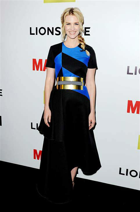 January Jones appears at the season 7 premiere party for &#39;Mad Men&#39; in Los Angeles on April 2, 2014.  <span class=meta>(Daniel Robertson &#47; startraksphoto.com)</span>