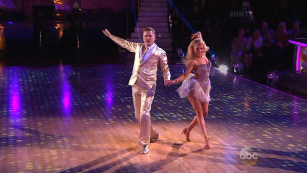 Drew Carey and Witney Carson dance the Cha Cha Cha on week four of &#39;Dancing With The Stars&#39; on April 7, 2014. They received 33 out of 40 points from the judges. <span class=meta>(ABC)</span>