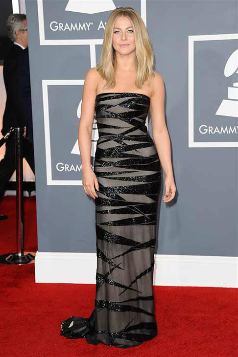 "<div class=""meta ""><span class=""caption-text "">Julianne Hough appears at the 54th annual Grammy Awards in Los Angeles on Feb. 12, 2012. (Kyle Rover / startraksphoto.com)</span></div>"