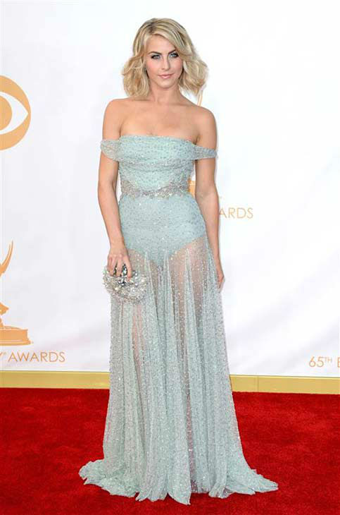 "<div class=""meta ""><span class=""caption-text "">Julianne Hough appears at the 65th annual Emmy Awards in Los Angeles on Sept. 22, 2013. (Lionel Hahn / Abaca USA / startraksphoto.com)</span></div>"