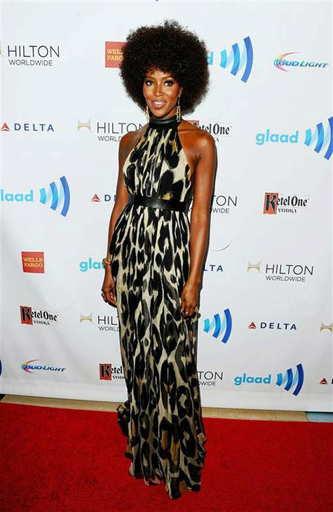 Naomi Campbell appears at the 25th Annual GLAAD Media Awards in Beverly Hills, California, on April 12, 2014. <span class=meta>(Daniel Robertson&#47;startraksphoto.com)</span>