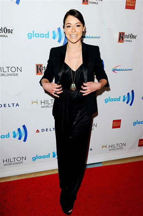 Tatiana Maslany appears at the 25th Annual GLAAD Media Awards in Beverly Hills, California, on April 12, 2014. <span class=meta>(Daniel Robertson&#47;startraksphoto.com)</span>