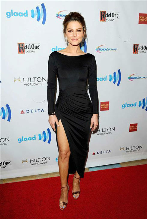 Maria Menounos appears at the 25th Annual GLAAD Media Awards in Beverly Hills, California, on April 12, 2014. <span class=meta>(Daniel Robertson&#47;startraksphoto.com)</span>