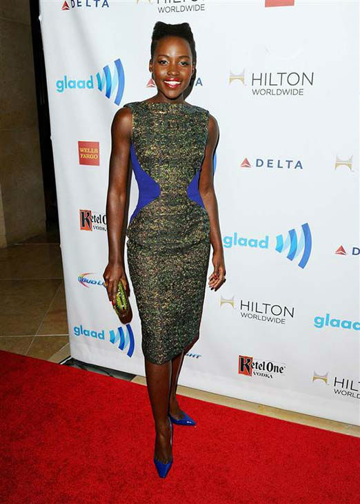 "<div class=""meta image-caption""><div class=""origin-logo origin-image ""><span></span></div><span class=""caption-text"">Lupita Nyong'o appears at the 25th Annual GLAAD Media Awards in Beverly Hills, California, on April 12, 2014. (Daniel Robertson/startraksphoto.com)</span></div>"