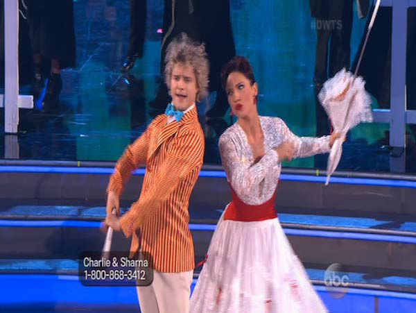 Charlie White and Sharna Burgess dance Jazz on week 5 of &#39;Dancing With The Stars&#39; on April 14, 2014. They received 37 out of 40 for their Jazz routine. <span class=meta>(ABC)</span>