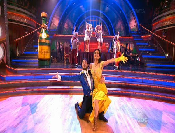 Danica McKellar and Valentin Chmerkovskiy dance the Quick Step on week 5 of &#39;Dancing With The Stars&#39; on April 14, 2014. They received 39 out of 40 points from the judges for their Quick Step. <span class=meta>(ABC)</span>
