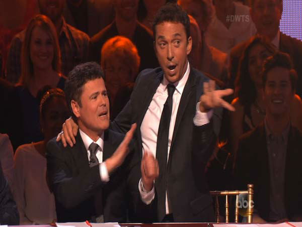 Donny Osmond, who took home the mirrorball trophy during season 9 of 'Dancing With The Stars,' appears as a guest judge on week 5 of the show on April 14, 2014.