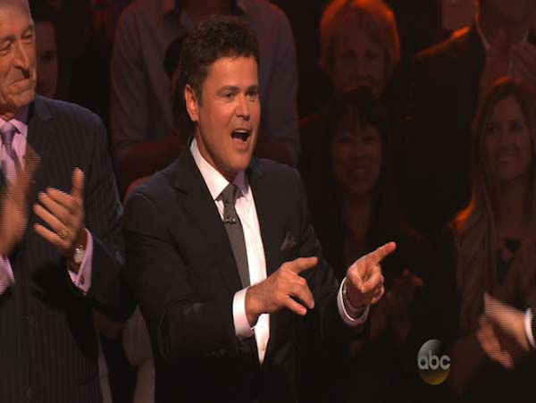 Donny Osmond, who took home the mirrorball trophy during season 9 of &#39;Dancing With The Stars,&#39; appears as a guest judge on week 5 of the show on April 14, 2014. <span class=meta>(ABC)</span>