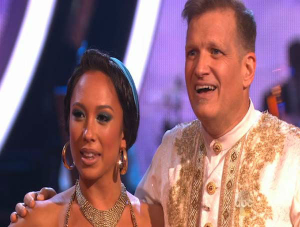 "<div class=""meta ""><span class=""caption-text "">Drew Carey and Cheryl Burke react to comments from the judges on week 5 of 'Dancing With The Stars' on April 14, 2014. They received 28 out of 40 points from the judges for their Quick Step. (ABC)</span></div>"