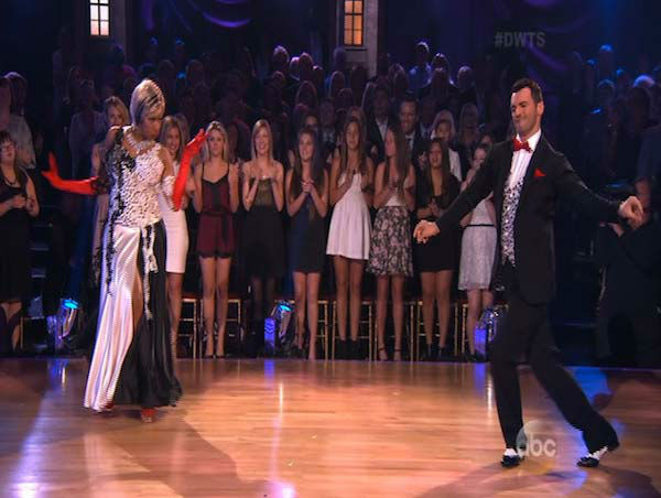 NeNe Leakes and Tony Dovolani dance the Fox Trot on week 5 of &#39;Dancing With The Stars&#39; on April 14, 2014. They received 36 out of 40 points from the judges for their Fox Trot. <span class=meta>(ABC)</span>