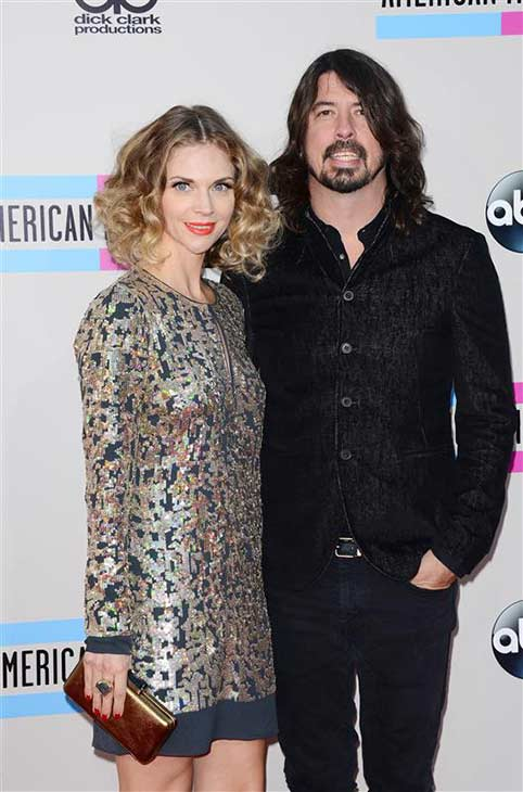 Foo Fighters singer Dave Grohl and wife Jordyn Blum are expecting their third child together, People magazine reported on April 11, 2014.   &#40;Pictured: Dave Grohl and wife Jordyn Blum appear at the 2013 American Music Awards in Los Angeles on Nov. 24, 2013.&#41; <span class=meta>(Lionel Hahn &#47; Abacausa &#47; startraksphoto.com)</span>