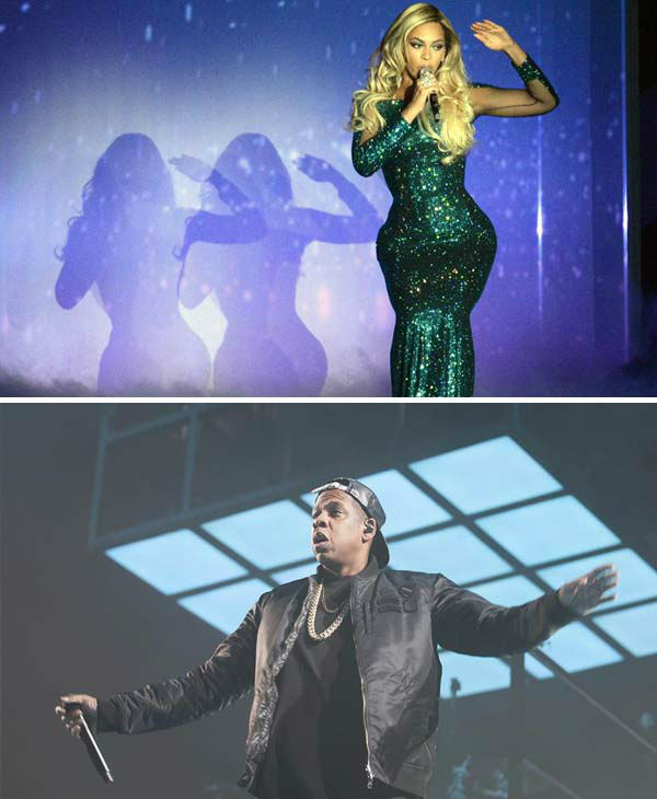 "<div class=""meta ""><span class=""caption-text "">An interchangeable catalog of hits.   Both Jay-Z and Beyonce have amassed numerous hit songs and fan favorites over the years. While they've performed many of the same songs at shows in the past, a joint tour gives them the chance to perform tracks they've never performed live before, both together and separately, as well as pull from their back catalog of songs that they haven't performed in years. Start planning that dream set list!   (Pictured: Top - Beyonce performs at the 2014 BRIT Awards on Feb. 19, 2014. Bottom - Jay-Z performs a concert at the O2 Arena in Hamburg, Germany on Oct. 27, 2013.)  (Richard Young / Rex / Heiko Sehrsam / startraksphoto.com)</span></div>"