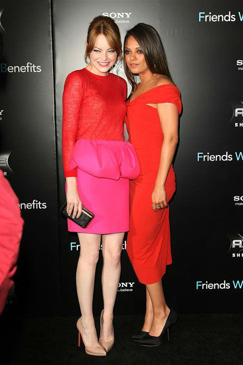 The time she and Mila Kunis looked adorable together in red at the New York premiere of &#39;Friends With Benefits&#39; on July 18, 2011. <span class=meta>(Photo&#47;Kristina Bumphrey)</span>