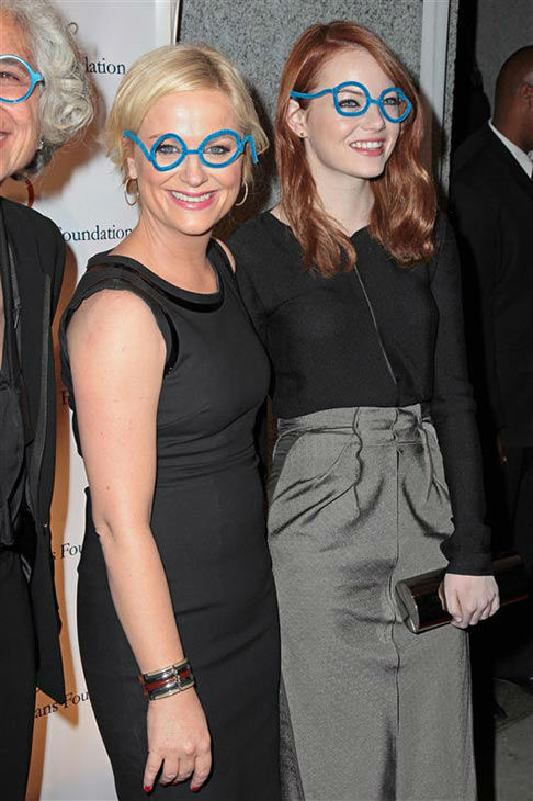 The time she and Amy Poehler looked adorable in fake pipe cleaner glasses at the Worldwide Orphans Foundation&#39;s Seventh Annual Benefit Gala in New York City on Nov. 14, 2011. <span class=meta>(Louis Burgis&#47;startraksphoto.com)</span>