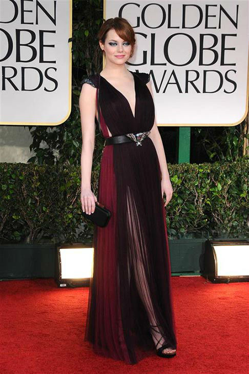 The time she showed a little leg and was adorable at the 69th Annual Golden Globe Awards on Jan. 15, 2012. <span class=meta>(Sara DeBoer&#47;startraksphoto.com)</span>