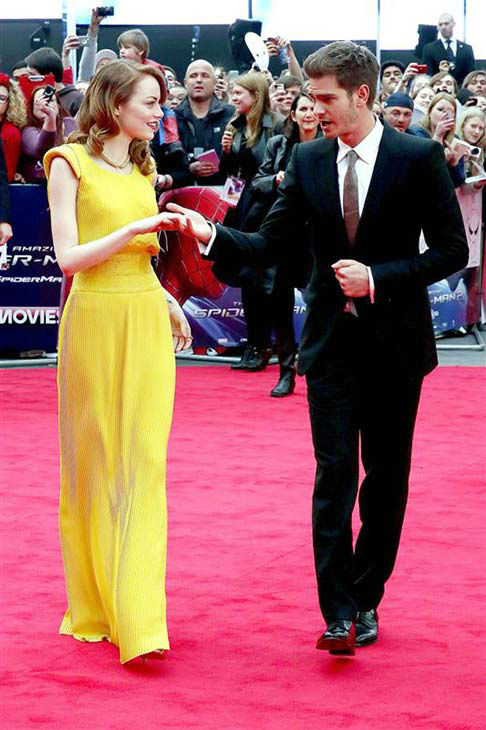 The time she and Andrew Garfield looked like they were about to break out into an adorable Fred Astaire and Ginger Rogers-style dance routine at &#39;The Amazing Spider-Man 2&#39; world premiere in London on April 10, 2014. <span class=meta>(Richard Young&#47;Rex&#47;startraksphoto.com)</span>