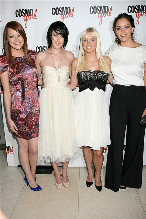 "<div class=""meta ""><span class=""caption-text "">The time she missed the 'we're all wearing white' memo, but still looked adorable with Rumer Willis, Anna Faris and Katherine McPhee appear at the screening of 'The House Bunny' in New York City on Aug. 18, 2008. (Dave Allocca/startraksphoto.com)</span></div>"