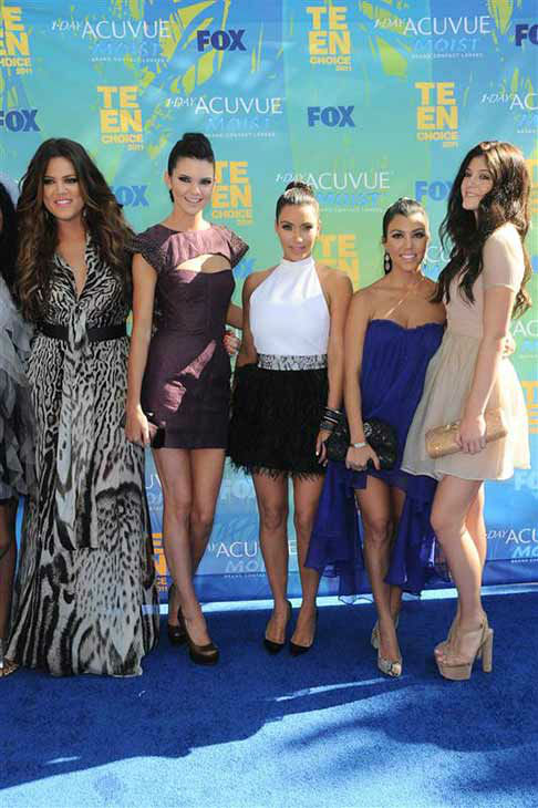 Kourtney Kardashian appears with sisters Khloe, Kendall, Kim and Kylie at the 2011 Teen Choice Awards in Los Angeles on Aug. 7, 2011. <span class=meta>(Kyle Rover &#47; startraksphoto.com)</span>