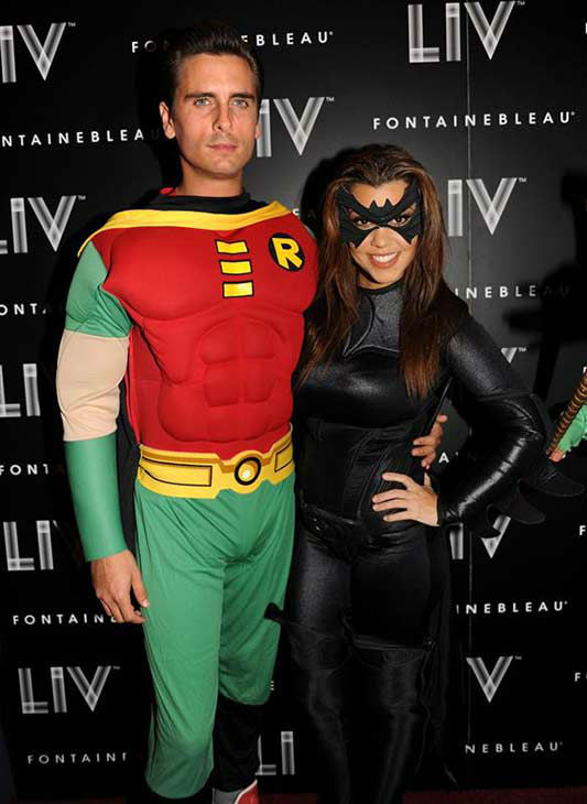 Kourtney Kardashian appears with boyfriend Scott Disick at LIV nightclub in Miami Beach, Florida on Oct. 31, 2012. <span class=meta>(Seth Browarnik &#47; startraksphoto.com)</span>