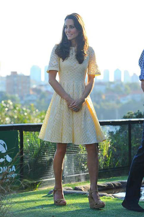 Kate Middleton, aka Catherine, Duchess of Cambridge, appears at the Taronga Zoo in Sydney, Australia on April 20, 2014. <span class=meta>(Paul McConnell &#47; Startraksphoto.com)</span>
