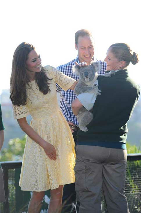 Kate Middleton, aka Catherine, Duchess of Cambridge, and husband Prince William appear at the Taronga Zoo in Sydney, Australia on April 20, 2014. <span class=meta>(Paul McConnell &#47; Startraksphoto.com)</span>
