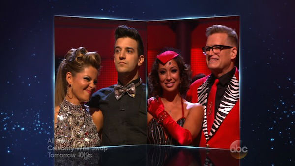 Candace Cameron Bure, Mark Ballas, Drew Carey and Cheryl Burke appear in a still from &#39;Dancing With The Stars&#39; season 18 on April 21, 2014. <span class=meta>(ABC)</span>