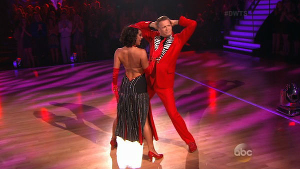 "<div class=""meta image-caption""><div class=""origin-logo origin-image ""><span></span></div><span class=""caption-text"">Drew Carey and Cheryl Burke dance the Tango on week six of 'Dancing With The Stars' on April 21, 2014. They received 32 out of 40 points from the judges. (ABC)</span></div>"