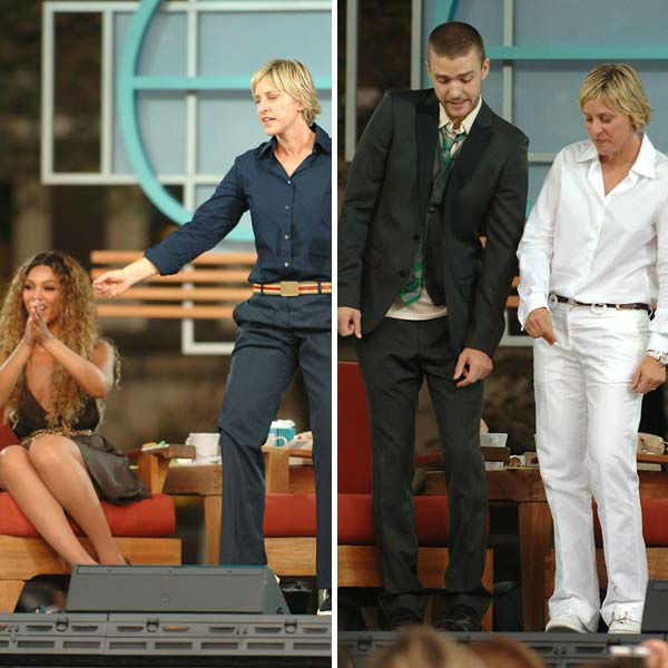We love Ellen DeGeneres because she had Beyonce AND Justin Timberlake on her talk show during its season 4 premiere episode in New York City on Aug. 28, 2009. <span class=meta>(Humberto Carreno &#47; startraksphoto.com)</span>