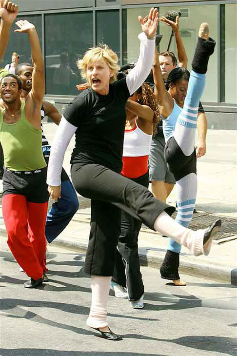 We love Ellen DeGeneres because she&#39;s always ready to dance, even when it&#39;s in the middle of the street in New York City for a segment on her talk show on Aug. 29, 2007. <span class=meta>(Gina Boyd &#47; startraksphoto.com)</span>