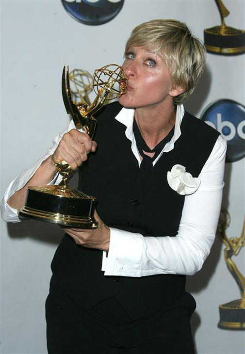 We love Ellen DeGeneres because she&#39;s an Emmy winner. You go Ellen! She took home a Daytime Emmy for her talk show in Los Angeles on June 20, 2008. <span class=meta>(Andy Fossum &#47; startraksphoto.com)</span>