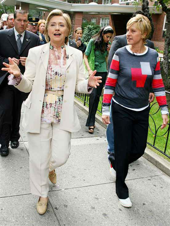 We love Ellen DeGeneres because she casually hung out with Hillary Clinton in New York City on Aug. 31, 2007. #JEALOUS <span class=meta>(Jayme Oak &#47; startraksphoto.com)</span>
