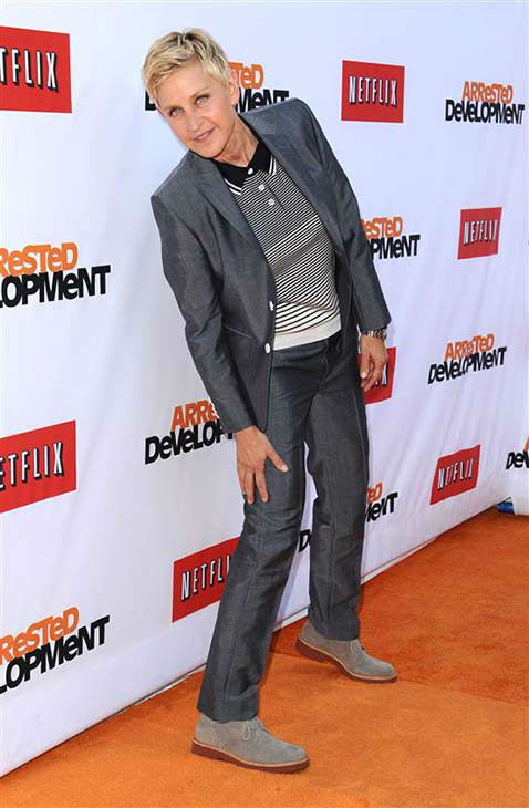 We love Ellen DeGeneres because she always rocks a good pose at events, like at the Los Angeles premiere of the Netflix series &#39;Arrested Development&#39; on April 29, 2013. <span class=meta>(Sara De Boer &#47; startraksphoto.com)</span>