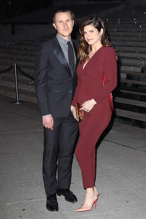 Lake Bell and husband Scott Campbell appear at a Vanity Fair party celebrating the 2014 Tribeca Film Festival on April 23, 2014.