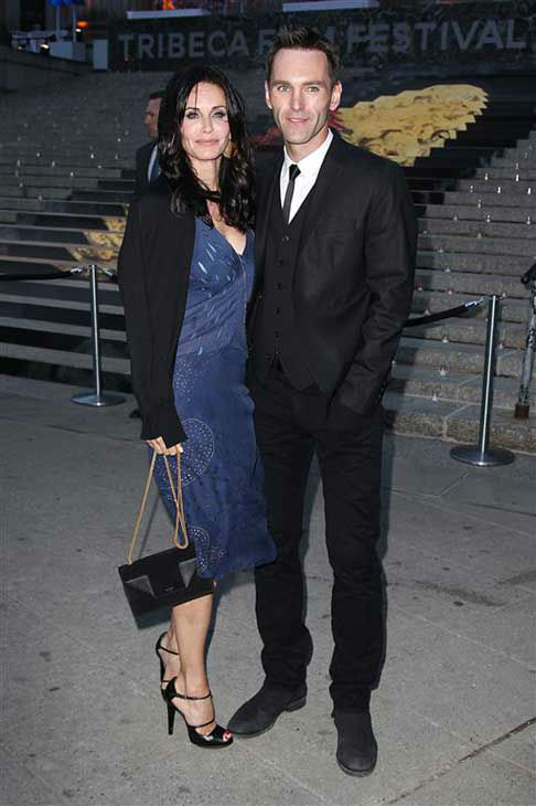 Courteney Cox and Johnny McDaid appear at a Vanity Fair party celebrating the 2014 Tribeca Film Festival in New York City on April 23, 2014. <span class=meta>(Kristina Bumphrey &#47; startraksphoto.com)</span>