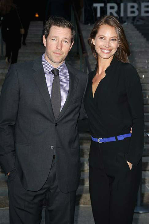 Ed Burns and Christy Turlington appear at a Vanity Fair party celebrating the 2014 Tribeca Film Festival in New York City on April 23, 2014. <span class=meta>(Kristina Bumphrey &#47; startraksphoto.com)</span>