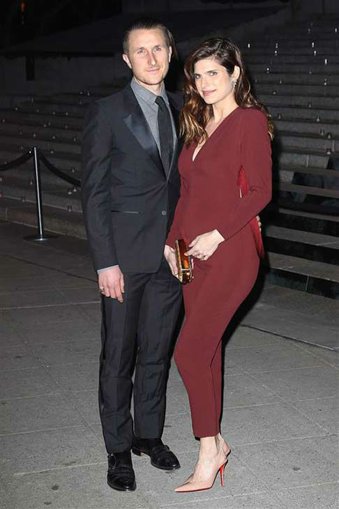 Lake Bell and husband Scott Campbell appear at a Vanity Fair party celebrating the 2014 Tribeca Film Festival in New York City on April 23, 2014. <span class=meta>(Kristina Bumphrey &#47; startraksphoto.com)</span>