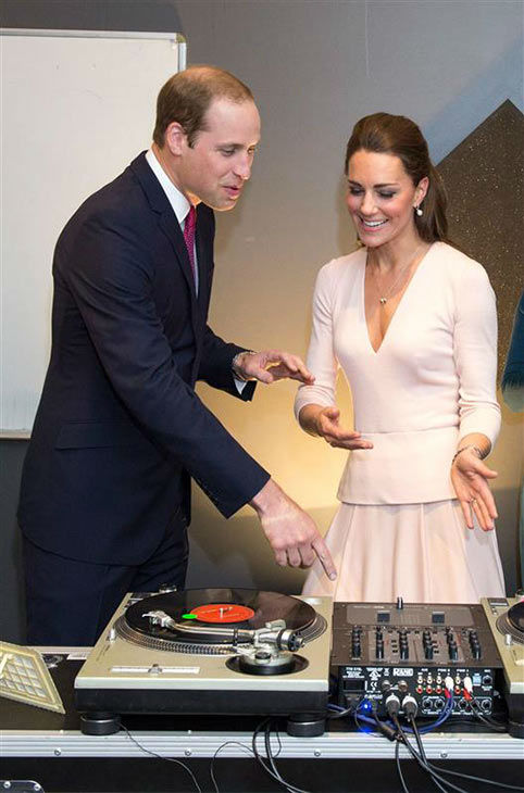 Prince William and Kate Middleton, aka Catherine, Duchess of Cambridge, visit The Northern Sound System and try their hands at DJing with DJ Shane Peterer in Adelaide, Australia on April 23, 2014. <span class=meta>(Rex Features&#47;Startraksphoto.com)</span>