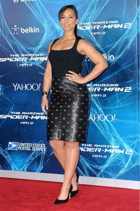 Alicia Keys appears at the premiere of &#39;The Amazing Spider-Man 2&#39; in New York on April 24, 2014. <span class=meta>(Humberto Carreno &#47; Startraksphoto.com)</span>