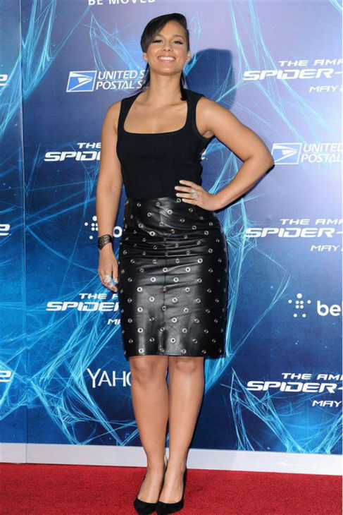 "<div class=""meta image-caption""><div class=""origin-logo origin-image ""><span></span></div><span class=""caption-text"">Alicia Keys appears at the premiere of 'The Amazing Spider-Man 2' in New York on April 24, 2014. (Humberto Carreno / Startraksphoto.com)</span></div>"